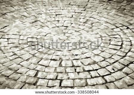 stone circle antique style - stock photo