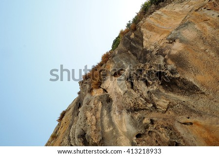stone cliff on the Island of Thailand