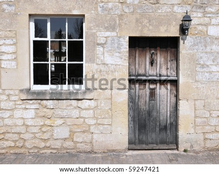 Stone Cottage Exterior - stock photo