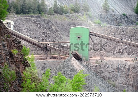 stone crusher in surface mine. hdr image.