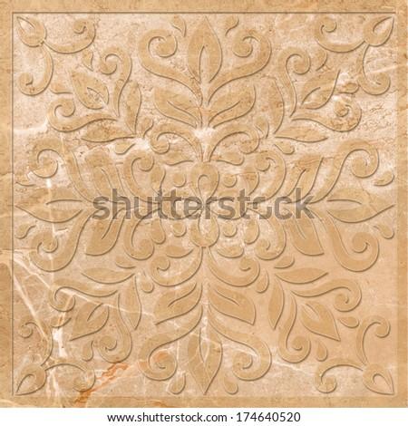 stone decor - stock photo