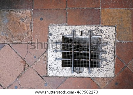 Stone floor and grille