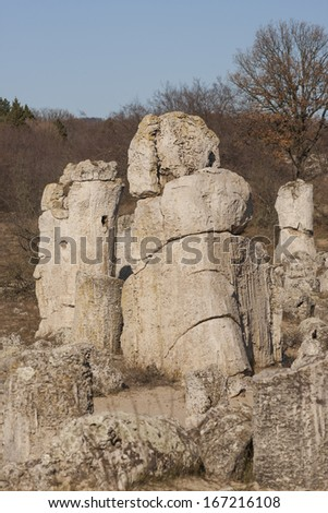 Stone forest near Varna, Bulgaria