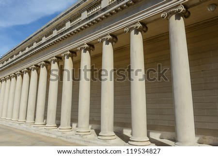Stone Foundation Pillars in a Row