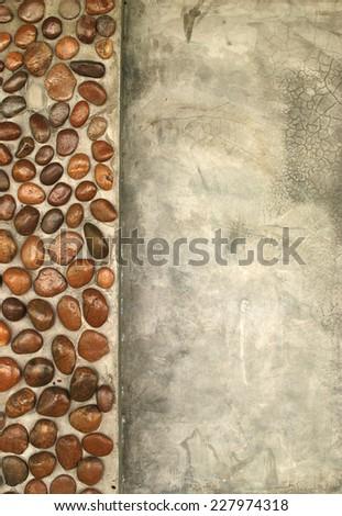 Stone frame background nature for design - stock photo