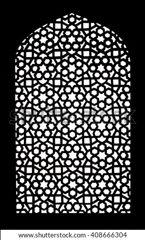 Stone grating at Humayun's Tomb in New Delhi, India