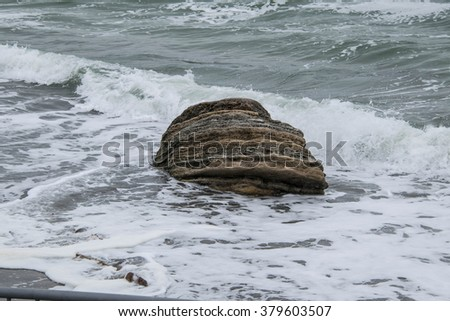 stone in the sea