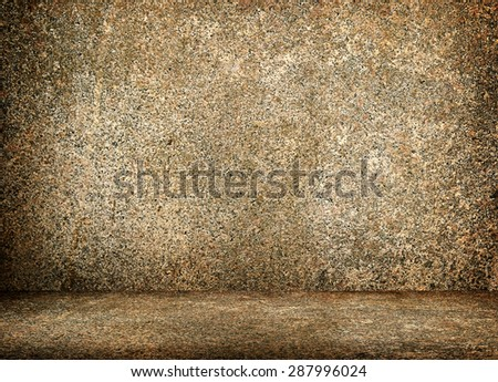 stone interior background - stock photo