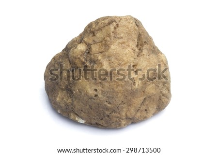 Stone isolated on white background - stock photo