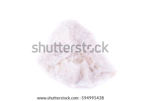stone macro mineral wollastonite on a white background