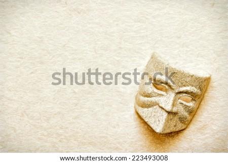 stone mask  -- illustration based on own photo image - stock photo