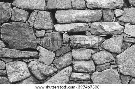 Stone masonry background - stock photo