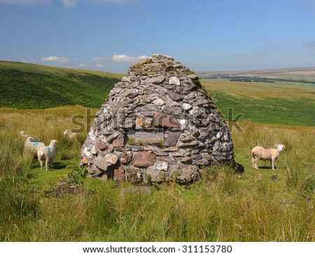 Stone Memorial Dedicated to the British Army Historian, John William Fortescue, near Exford in the Exmoor National Park, Somerset, England, UK