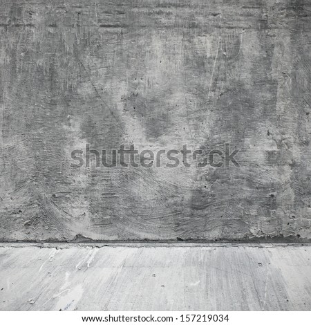 Stone old and weathered surface of wall in the industrial interior of the street - stock photo