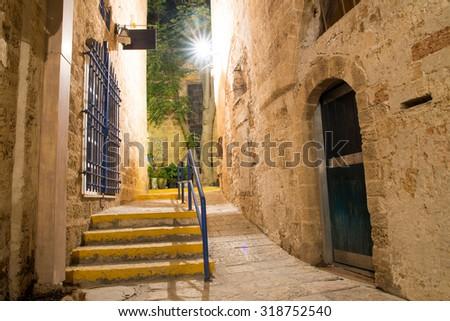 stone old city Jaffa in Tel Aviv - stock photo