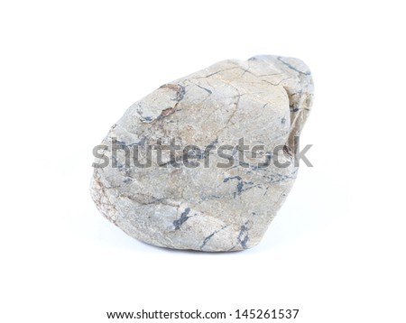 stone on a white background.