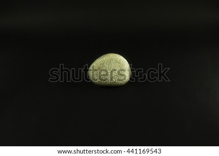 Stone on background black color