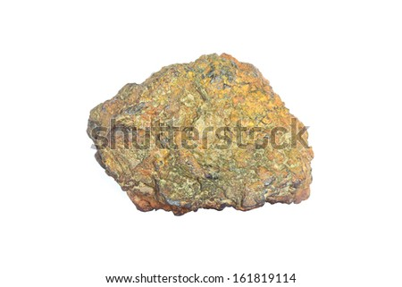 Stone on plain background