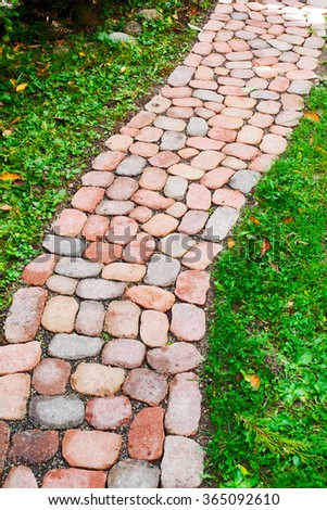 Stone path in a garden - stock photo