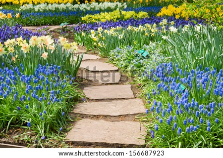 Flower Garden Path garden path stock images, royalty-free images & vectors | shutterstock