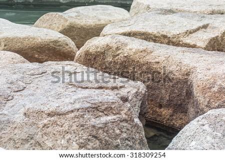 Stone patio - stock photo