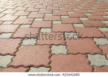Stone pavement pattern - stock photo