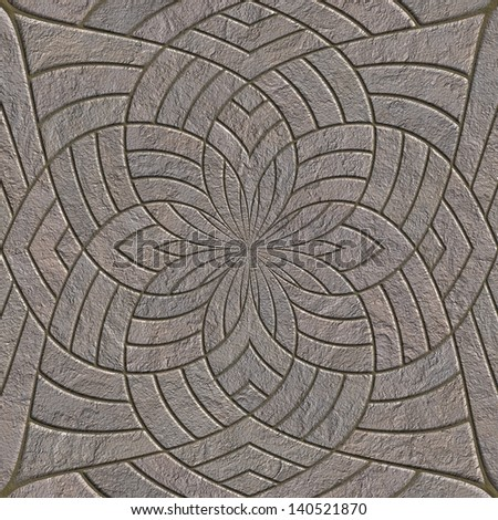 Stone pavement. Seamless pattern. - stock photo