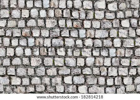 Stone pavement texture - stock photo