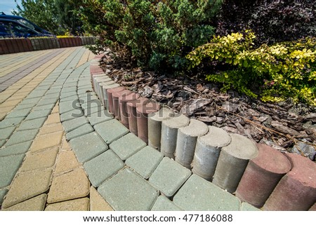 Stone paving texture. Abstract structured background