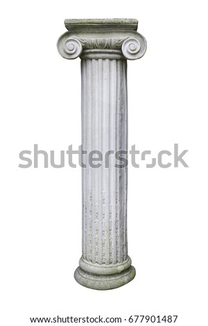 stone pillar isolated on a white background