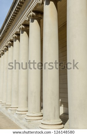 Stone Pillars in a Row