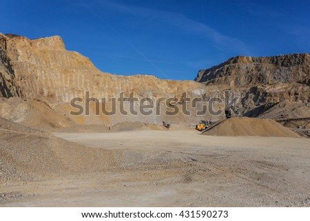 Stone quarry in Serbia