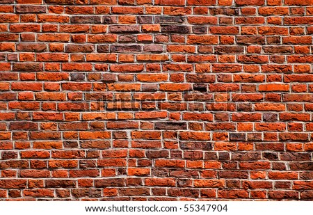 stone red wall pattern natural surface - stock photo