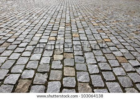 Stone road texture - stock photo