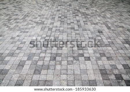 Stone road texture. - stock photo