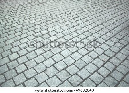 stone road, texture - stock photo