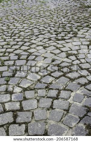 Stone roadway from granite area  - stock photo