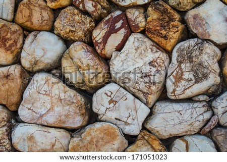 Stone Rock Wall Pattern Background