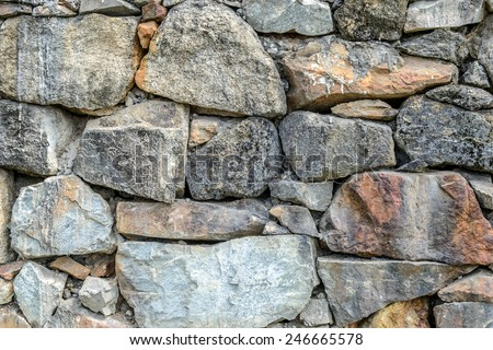stone rocks wall backgrounds - stock photo