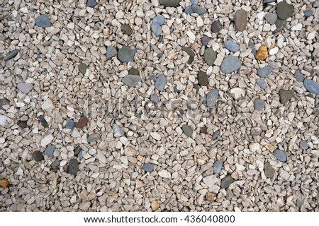 Stone rubble background/ranite rubble/stone rubble background texture/pattern formed by crushed granite gray - stock photo