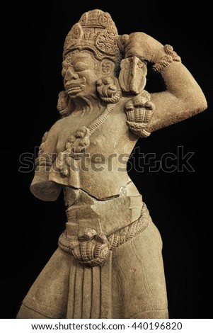 stone sculpture Beautiful Dancing - stock photo