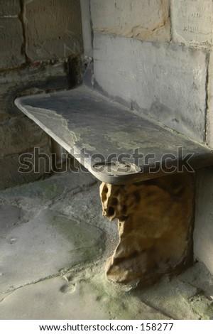 Stone Seat - stock photo