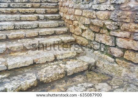 Stone Stair, Stone Brick