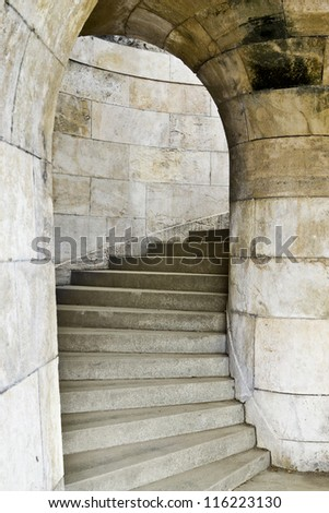 stone stairs - stock photo