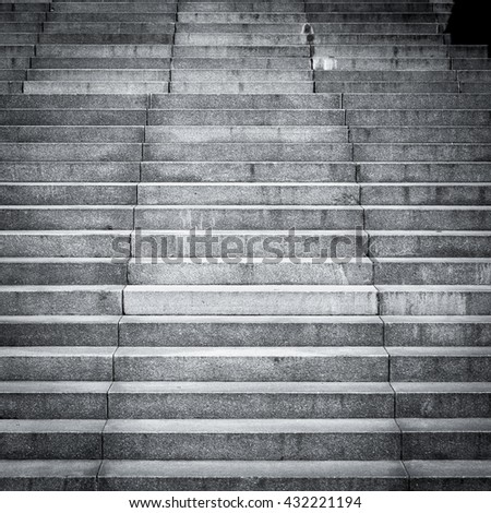Stone stairs steps background - construction detail - stock photo