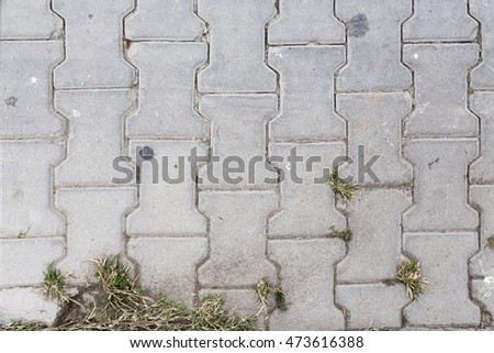 stone surface and background with grass