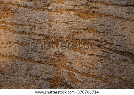 stone surface with sand for background, top view. - stock photo