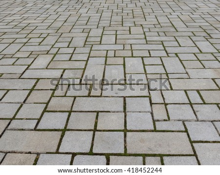 Stone tile floor useful as a background - stock photo