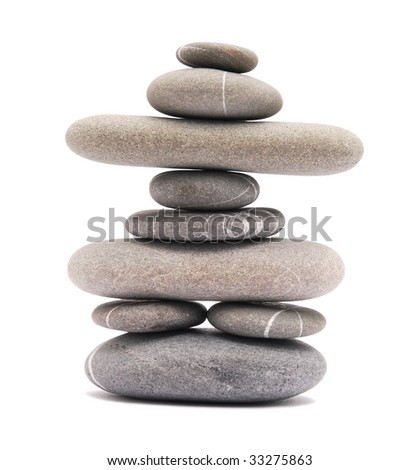 stone tower isolated on white