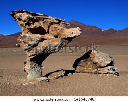 Stone tree - stock photo